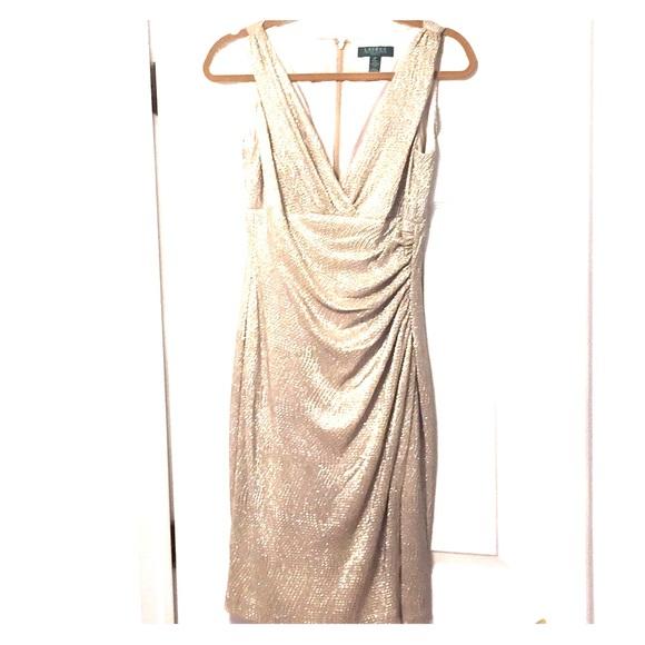 Lauren by Ralph Lauren Gold Shimmer Dress